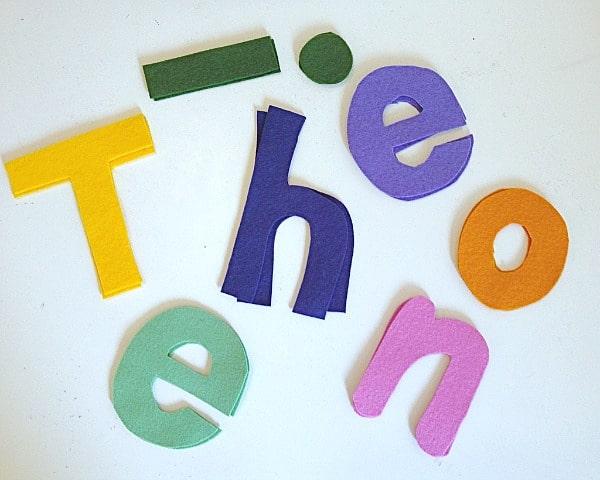 felt letters for kids