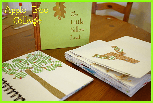 Fall Craft for Kids: Apple Tree Collage~ Buggy and Buddy