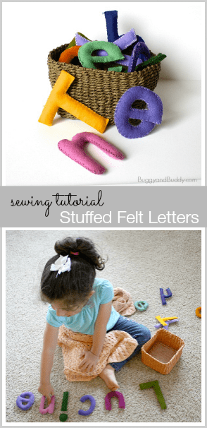 Make your own stuffed felt letters! ~ Buggyandbuddy.com