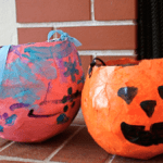 Paper Mache Treat Holders for Halloween