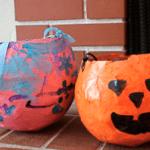 Paper Mache Treat Holders for Halloween