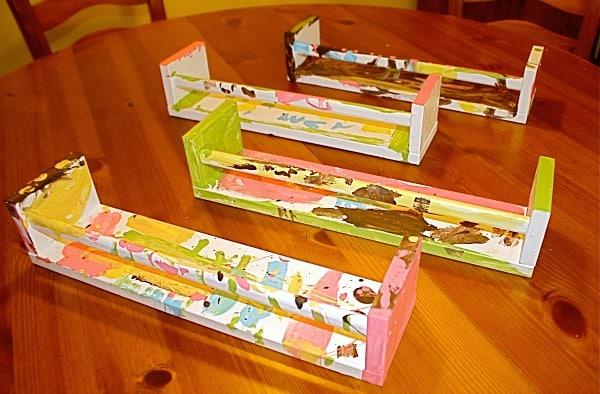 Art Projects for Kids: Ikea Bookshelf from Spice Racks