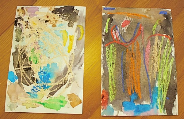Art Projects for Kids: Using Watercolors and Oil Pastels~ Buggy and Buddy