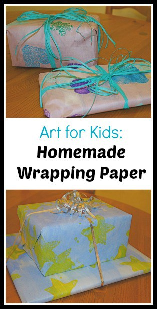 wrapping paper collage