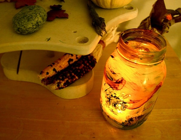Fall Craft for Kids: Make a Glass Jar Lantern~ Buggy and Buddy