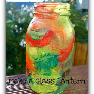 Mason Jar Craft for Kids: Painted Lantern