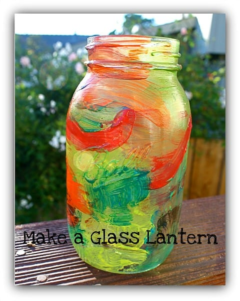 Mason Jar Craft For Kids Painted