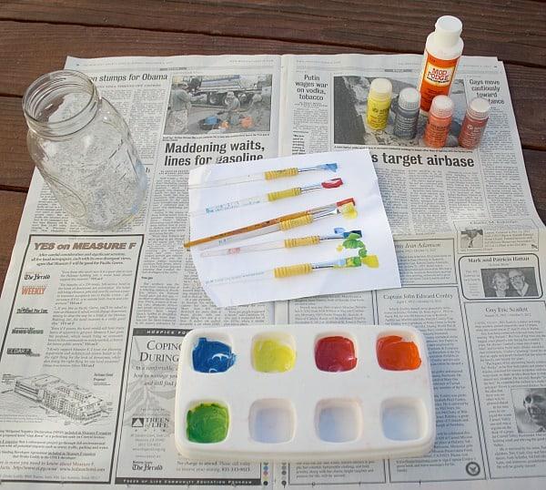 Fall Craft for Kids: Make a Glass Jar Lantern~ Buggy and Buddy