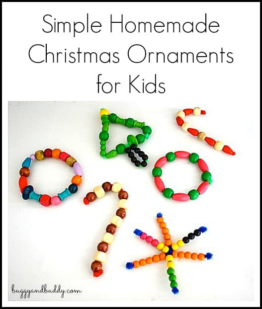 Simple Homemade Christmas Ornaments for Kids~ Buggy and Buddy