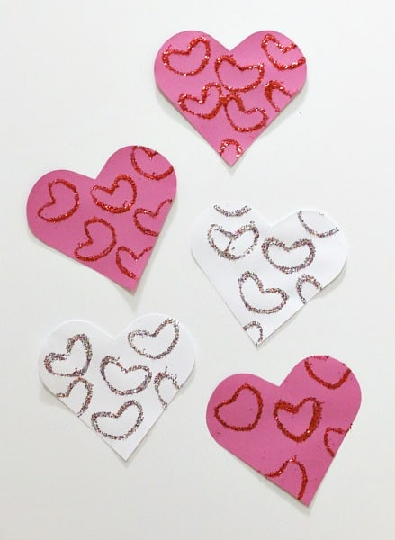 Valentine's Day Craft for Kids: Glitter Hearts~ Buggy and Buddy