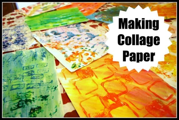 Making Collage Art with Toddlers and Kids