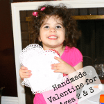 Valentines Made Completely by Your Child~ Easy enough for a 2 year-old!