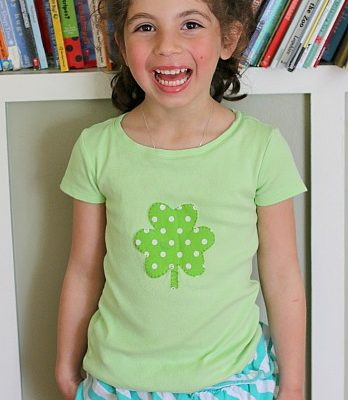 DIY Applique Shirt for St. Patrick's Day