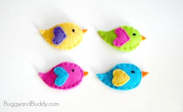 How to Make Felt Bird Hair Clips~ BuggyandBuddy.com