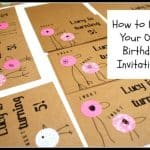 Making Bird Birthday Invitations