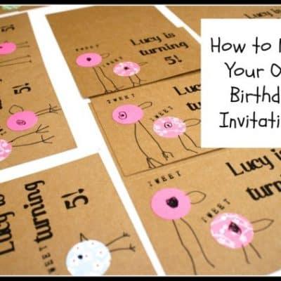 Making Bird Birthday Invitations