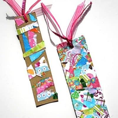 Craft for Kids: Make a Bookmark Using Tear Art
