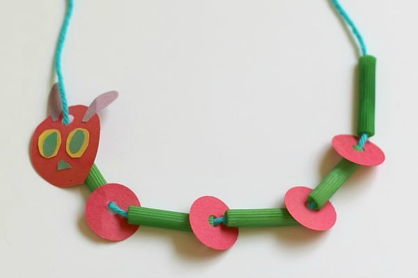 Crafts for Kids: Very Hungry Caterpillar Necklace~ Buggy and Buddy