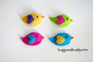How to Make Felt Bird Hair Clips for Girls
