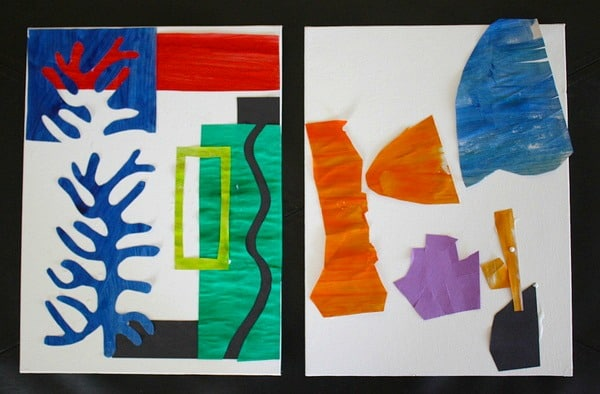 Matisse For Kids Paper Cut Out Artwork Inspired By
