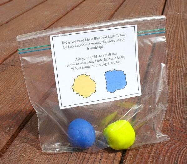 Take Home Color Mixing Activity for Little Blue and Little Yellow