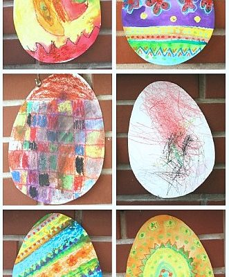 Easter Craft for Kids: Easter Egg Art Inspired by Rechenka's Eggs