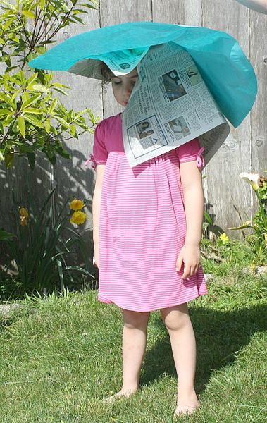 shaping the spring hat craft for kids