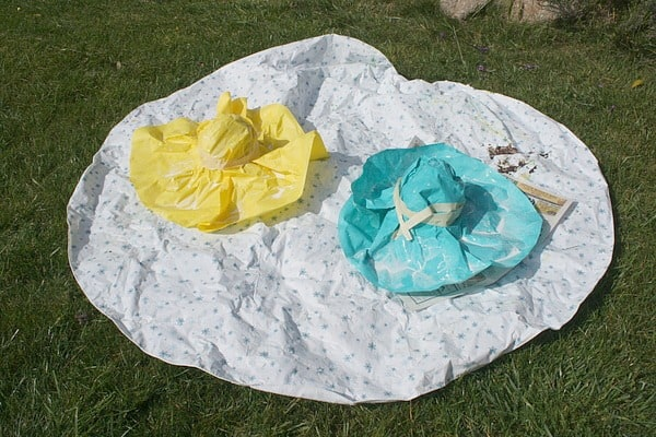 drying paper mache hats