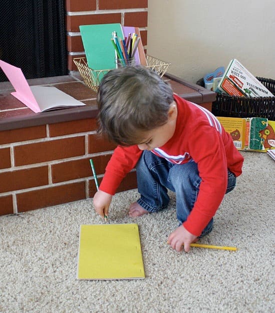 easy book making center for kids