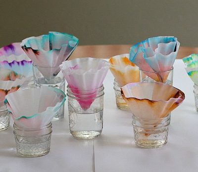 Chromatography experiment for kids