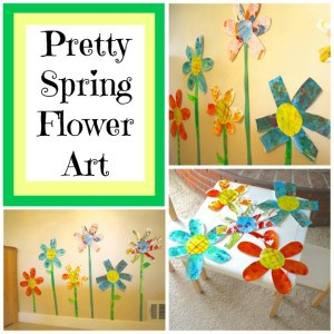 Giant Spring Flowers Made with Collage Paper
