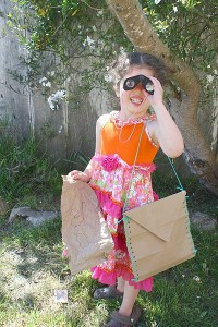 Satchel and Map from Just One Paper Bag for Creative Play
