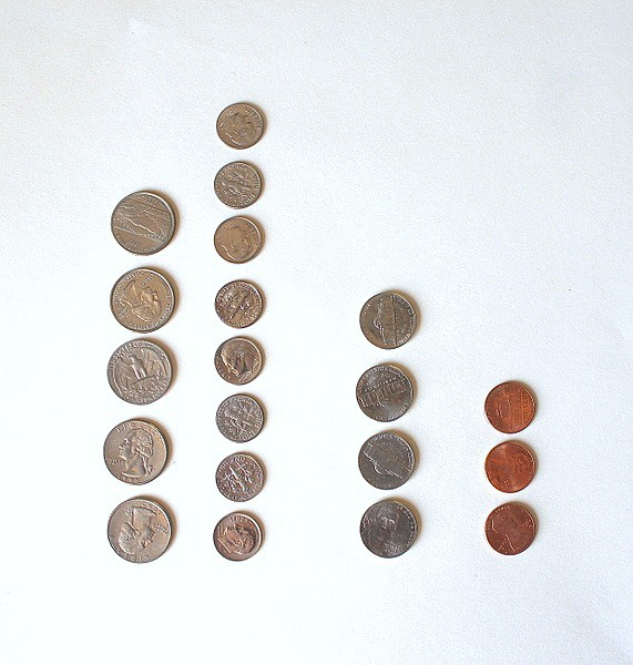 sorting coin game for kids
