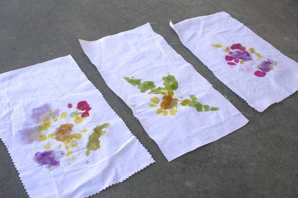 Flower Banners from Flower and Leaf Pounding
