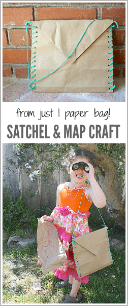 All you need to make this satchel and map is one paper bag! Such a fun way to encourage creative play! ~ BuggyandBuddy.com