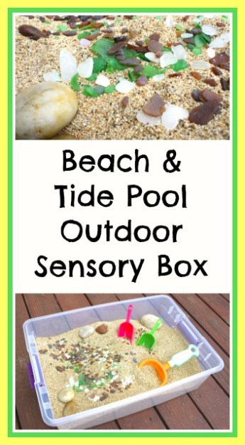 beach themed sensory box