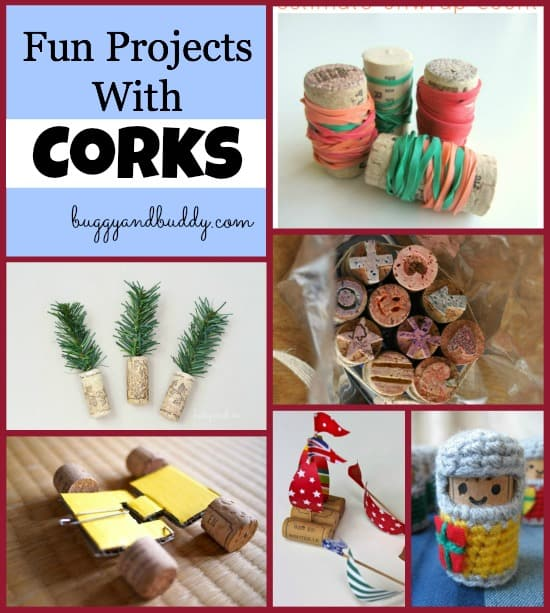 Crafts and activities with corks buggy and buddy for Craft projects with corks