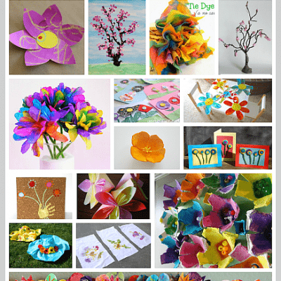 Over 20 Gorgeous Flower Crafts for Kids to Make