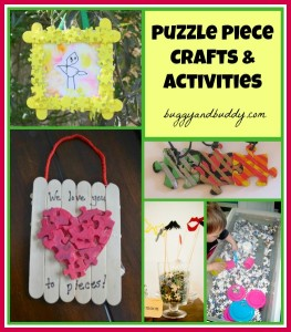 Puzzle Piece Craft and Activity Roundup