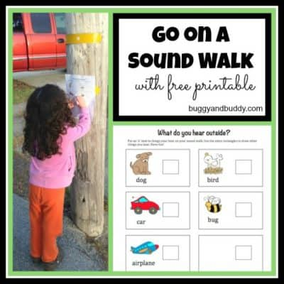 Outdoor Activities for Kids: Go on a Sound Walk (with free printable)