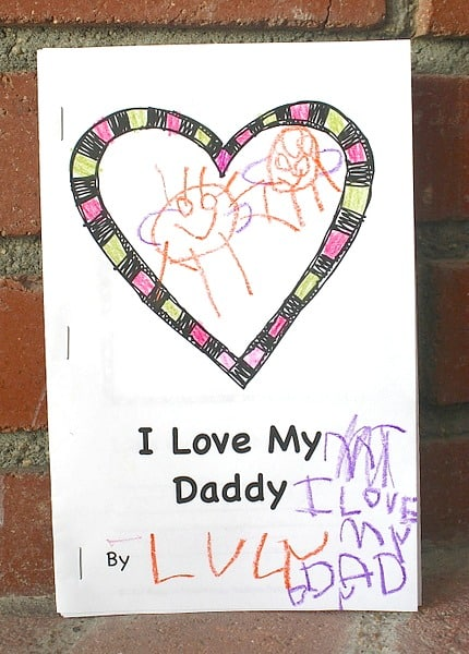 Free Father's Day Book Printable for Kids to Make