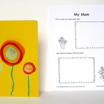 Homemade Mother's Day Card (w/ Free Printable)