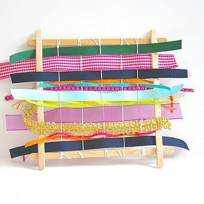 DIY Popsicle Stick Weaving Looms for Kids