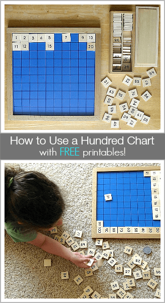 Ways to Use a Hundred Chart (w/ FREE printables)! ~BuggyandBuddy.com
