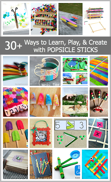 Over 30 Ways to Play, Learn, and Create with Popsicle Sticks~ Buggy and Buddy