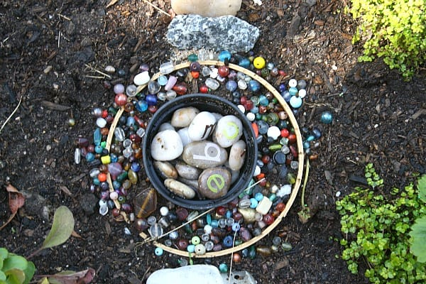 rocks and beads