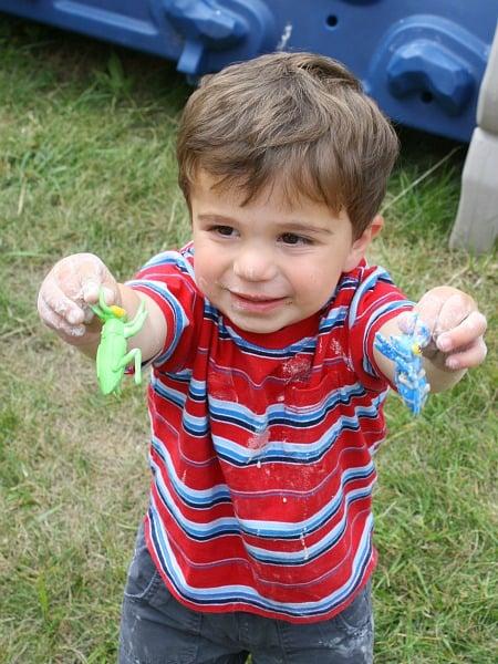 Bug and Oobleck Sensory Play with Writing Response~ Buggy and Buddy
