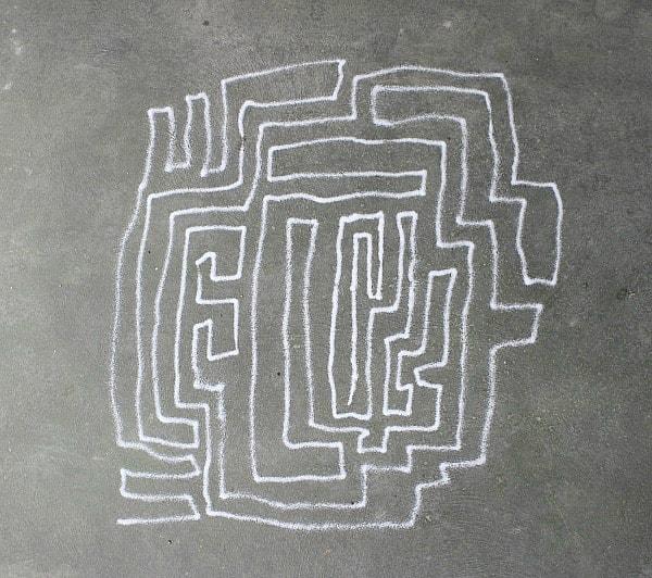 outdoor salt art for kids