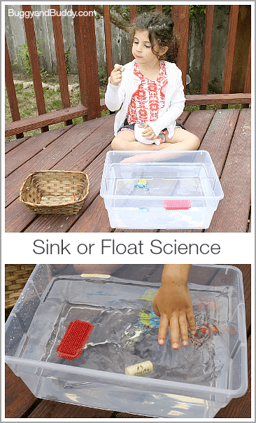 Sink or Float Science Activity for Kids w/ Free Printable (BuggyandBuddy.com)