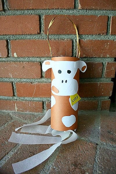 Cow Windsock Craft for Kids